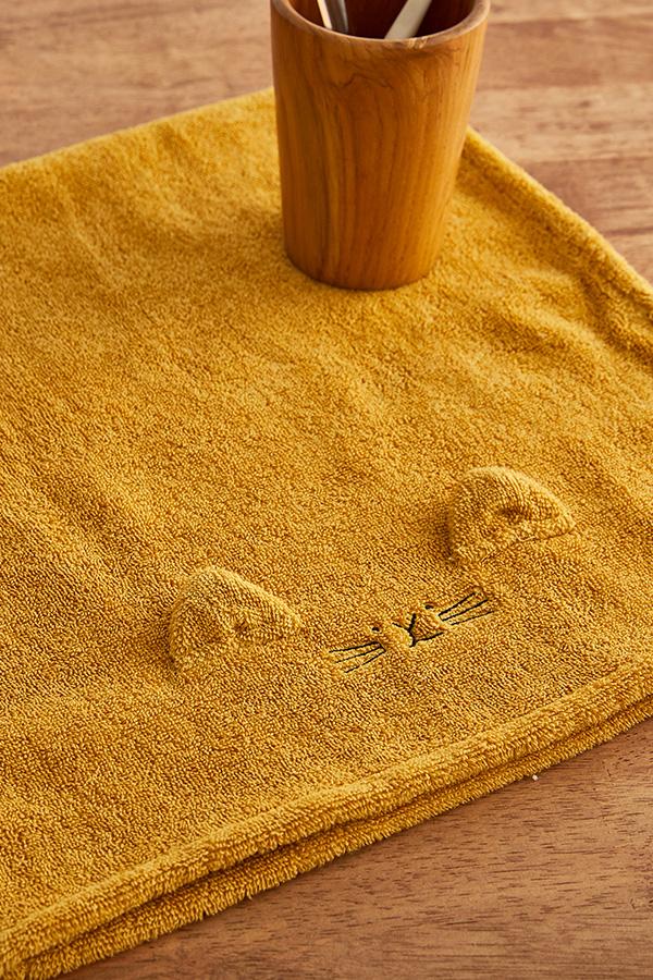 항균 페이스타올 고양이_아기목욕타올/어린이집수건