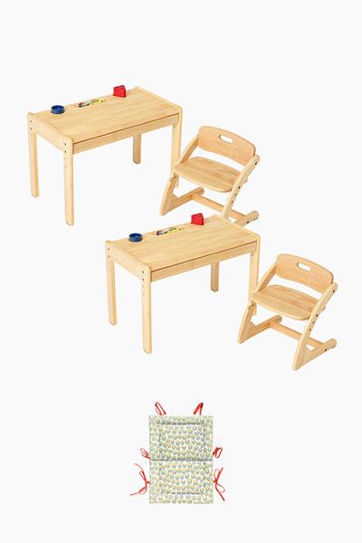 부오노 아미체 책상의자 2개세트 (+쿠션 증정)