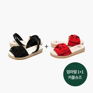 ★1+1★여성용 리본 슬리퍼+샌들