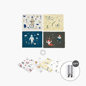 [사계절세트]소프트블랭킷+밤부속싸개_디자인선택+유모차집게 증정