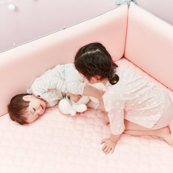 ★자동충전아기침대★에어범퍼침대_핑크(100X150)