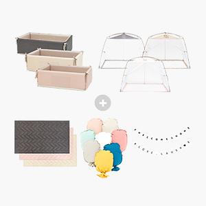 블룸 종합선물세트★범퍼침대+플레이하우스+패드+쿠션+가렌다