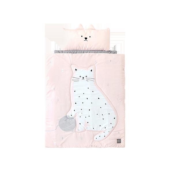★낮잠이불파우치 증정★알러지free 사계절 낮잠이불 고양이 벨라