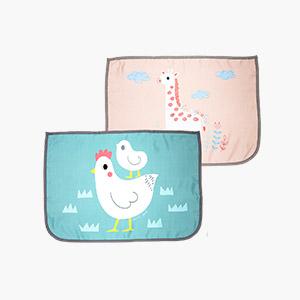 차량용햇빛가리개 듀오세트_기린 핑크/닭 그린