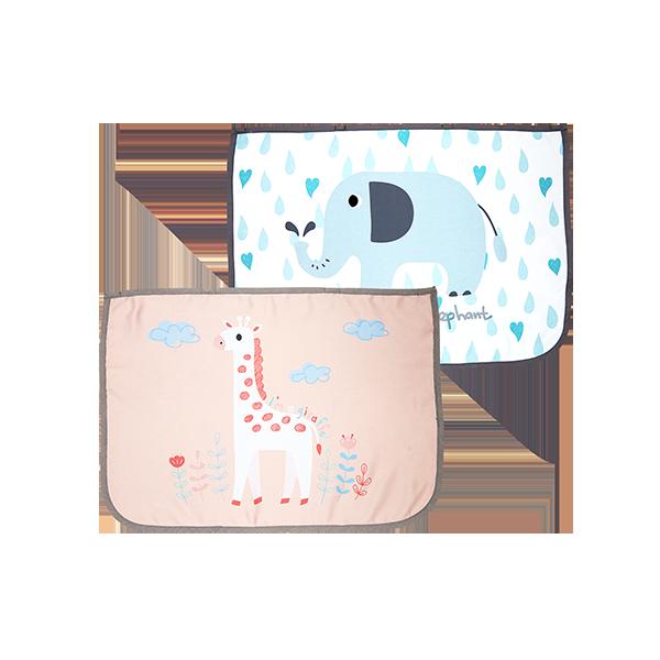 차량용햇빛가리개 듀오세트_기린 핑크/코끼리 화이트