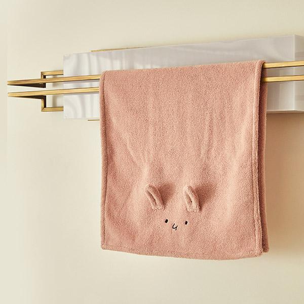 항균 페이스타올 토끼_아기목욕타올/어린이집수건