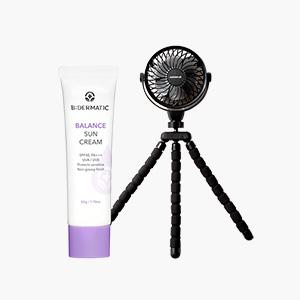★여름준비필수품★비더마틱 밸런스 선 크림+마키나랩 휴대용 문어 선풍기