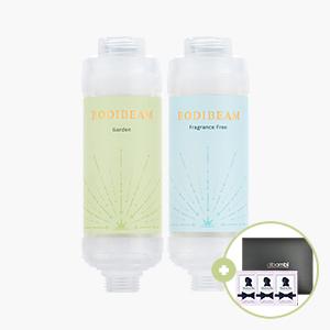[선물용]바디빔 유아 비타민 샤워필터 2개 세트+누들앤부샘플60ml+기프트박스