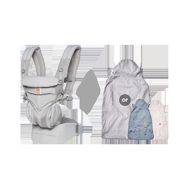[가을준비]옴니360쿨에어_펄그레이+바람막이 세트(투웨이침받이+정품카드 증정)