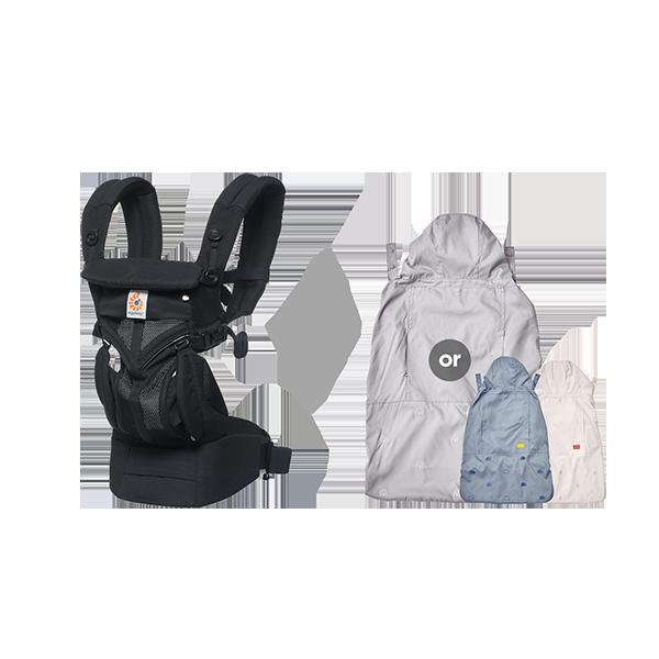 [가을준비]옴니360쿨에어_오닉스블랙+바람막이 세트(투웨이침받이+정품카드 증정)