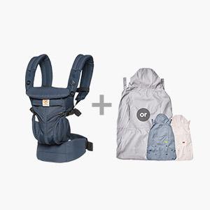 [가을준비]옴니360쿨에어_미드나잇블루+바람막이 세트(360전용침받이+정품카드 증정)