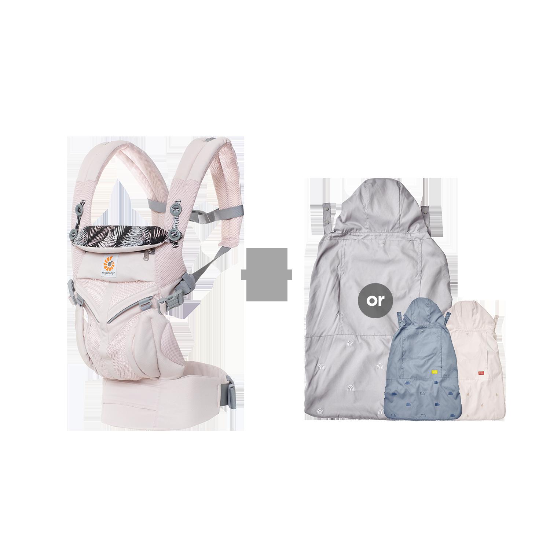 [가을준비]옴니360쿨에어_마우이+바람막이 세트(투웨이침받이+정품카드 증정)