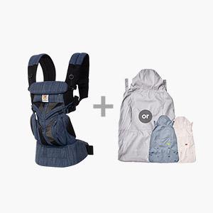 [가을준비]옴니360쿨에어_인디고위브+바람막이 세트(360전용침받이+정품카드 증정)
