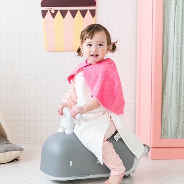 바캉스타월균일가★유아용 목욕망토_핑크망토