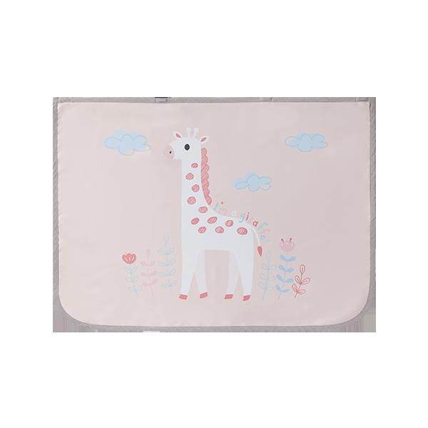 3중암막 자석형 차량용햇빛가리개_기린 핑크