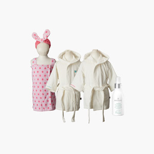 [목욕세트]유아용 목욕가운+비 미스트
