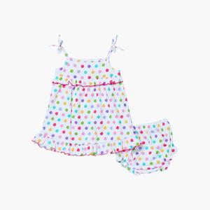 페인트브러쉬 민소매 드레스