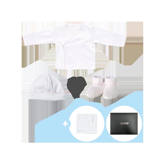[출산준비]키시도트 배냇저고리+신생아모자or발싸개+키시베이직 속싸개 증정+기프트박스