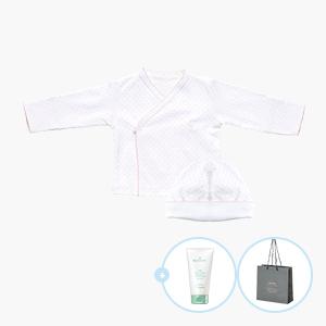 [출산세트]키시도트 배냇저고리+신생아모자+비크림50ml+디밤비쇼핑백