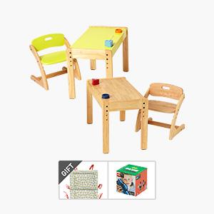 2x2더블위크★부오노 아미체 책상의자세트(쿠션x2개+적립금x2배)