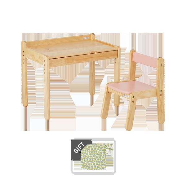 노스타 1인용 원목 책상의자세트 (+쿠션 증정)
