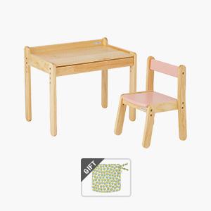 노스타 1인용 원목 책상의자세트(+쿠션 증정)