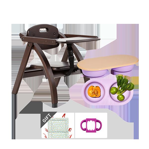 ★단독FULLSET★아치체어 좌식 식탁의자+더블플레이트 세트+2종(홀더몬+쿠션)